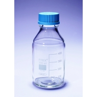 Laboratory Bottles, Round, Clear, Pyrex